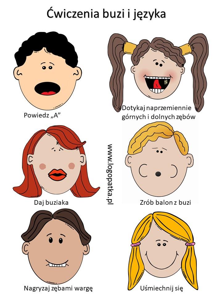 Logopedyczne ćwiczenia buzi i języka | LogoPatka